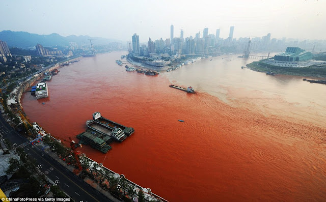 River pollution in China