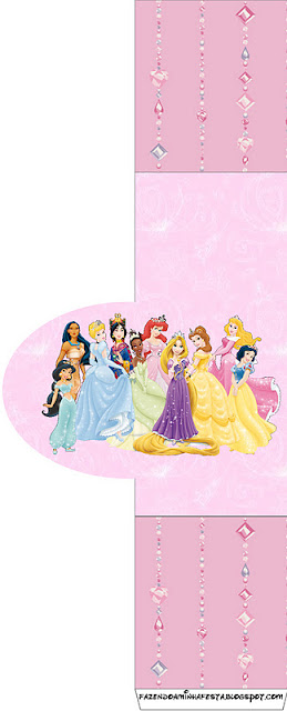 Princesas Disney Todas Juntas Kit Completo Com Molduras Para