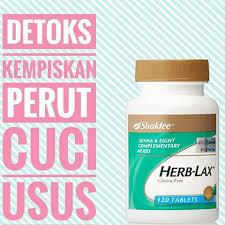 Herb-lax Shaklee; herba cuci usu; kempiskan perut secara semulajadi; herba detox selamat; shaklee beaufort; shaklee tawau;
