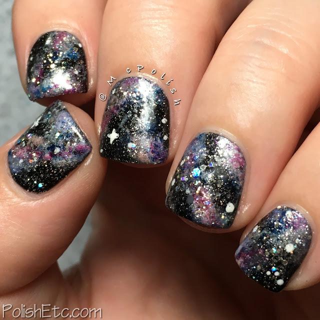 Galaxy nails with Zoya polishes - McPolish - #31DC2016Weekly