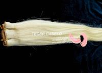 Tecer cabelo cabelo loiro de 54 cm
