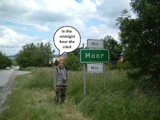 billy idol rebel yell funny road sign with elderly hiker
