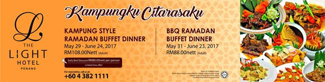 Kampungku Citarasaku Ramadan Buffet Dinner @ Spice Brasserie, The Light Hotel, Penang