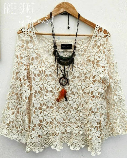 Crochet women top or blouse