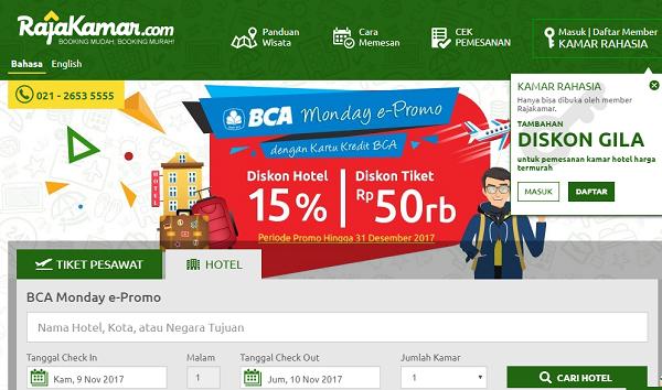 situs booking hotel murah Raja Kamar com
