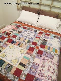 hankie quilt on bed