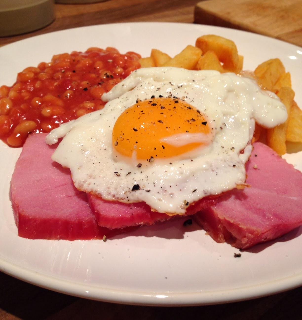 Student Dinners Gammon Ham Egg Amp Chips