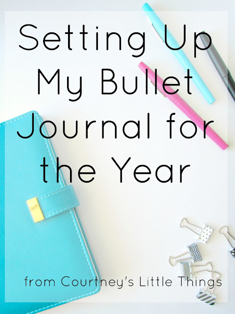 Setting Up My 2017 Bullet Journal