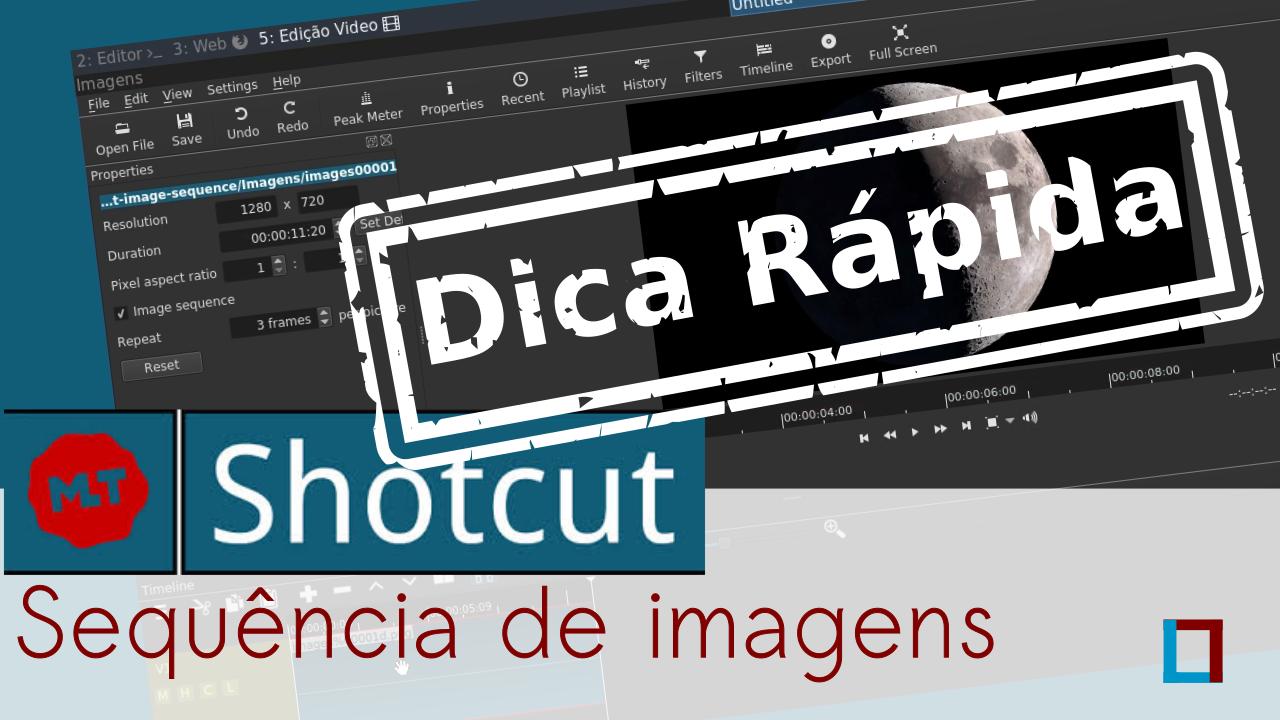 Imagem de título do vídeo: Animando uma sequências de imagens no Shotcut
