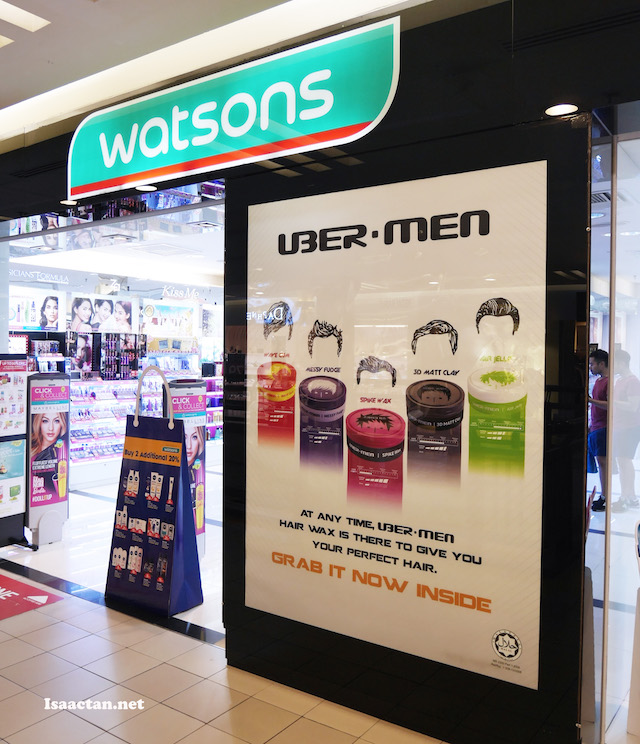 Watsons - Get your Ubermen Hair Wax here!