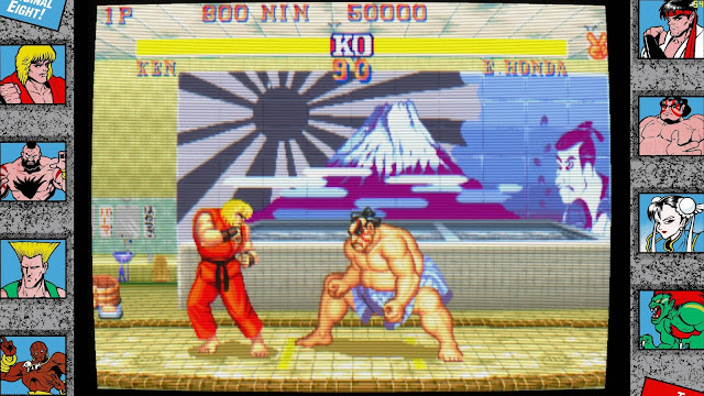 Street Fighter 30th Anniversary Collection - E.Honda stage - Ken VS E.Honda