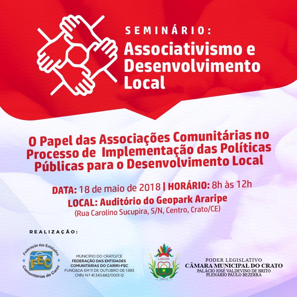 a0f7c5f935 Associativismo será discutido em Crato nesta sexta-feira (18 ...