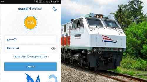 Cara Bayar Tiket Kereta Api via Mandiri Mobile Banking