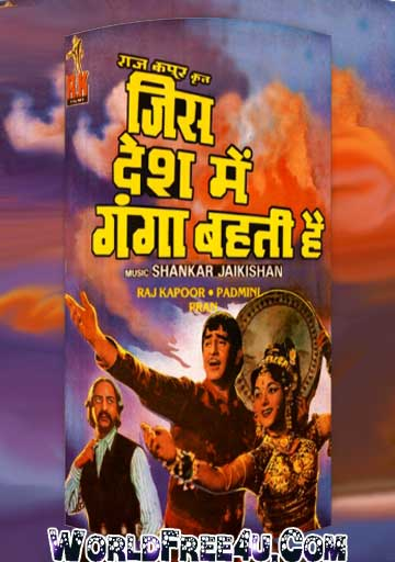 Poster Of Bollywood Movie Jis Desh Men Ganga Behti Hai (1960) 300MB Compressed Small Size Pc Movie Free Download worldfree4u.com