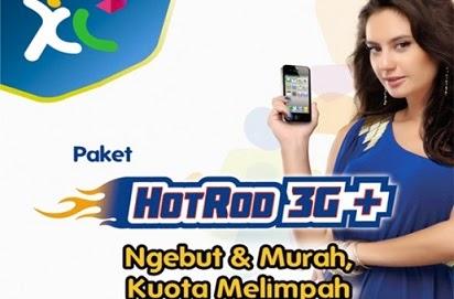 Cara cek kuota XL Paket HotRod 3G+,