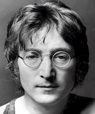 Rostro de John Lennon con lentes