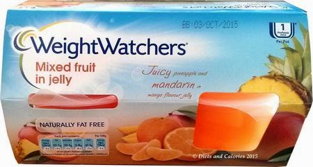 Weight Watchers Mixed Fruit in Jelly pots