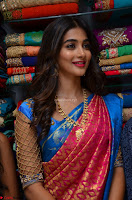 Puja Hegde looks stunning in Red saree at launch of Anutex shopping mall ~ Celebrities Galleries 069.JPG