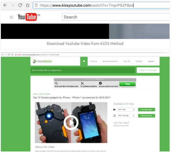 5 different ways to download videos from youtube to your pc and for example the url of httpsyoutubewatchvtmprpszfbpk now add a kiss the url changed to httpskissyoutube watchvtmprpszfbpk ccuart Images