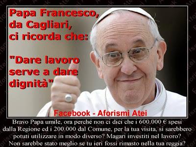 Visita Papa Francesco a Cagliari: gli 800.000 euro spesi ...