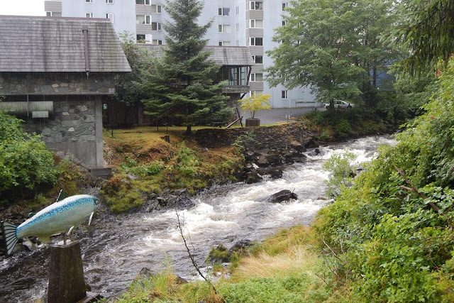 Ketchikan Creek Street upstream