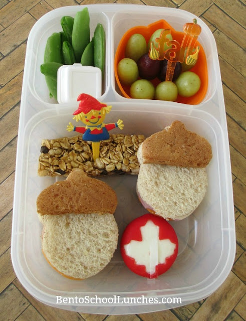 Fall Acorns and Leaf Bento
