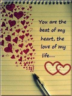 beautiful hearts drawn on notepad
