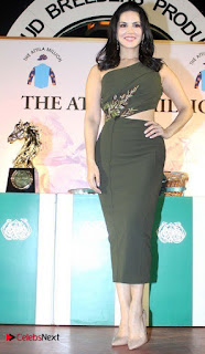 Bollywood Actress Model Sunny Leone Stills at The Atilla Million Race Event  0006.jpg