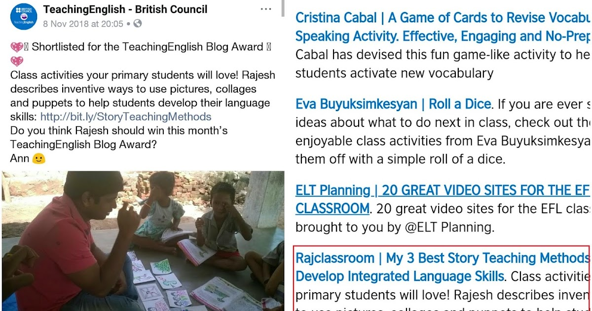 Shortlisted for the British Council's Featured Blog Award