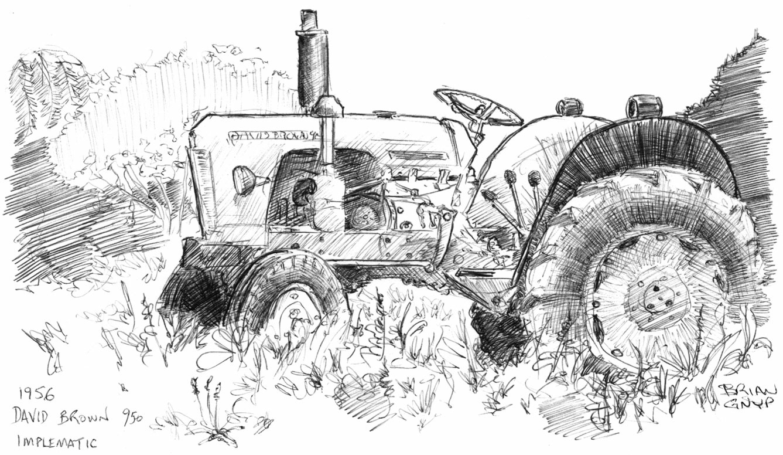 Sketchy Drawings David Brown 950 Implematic