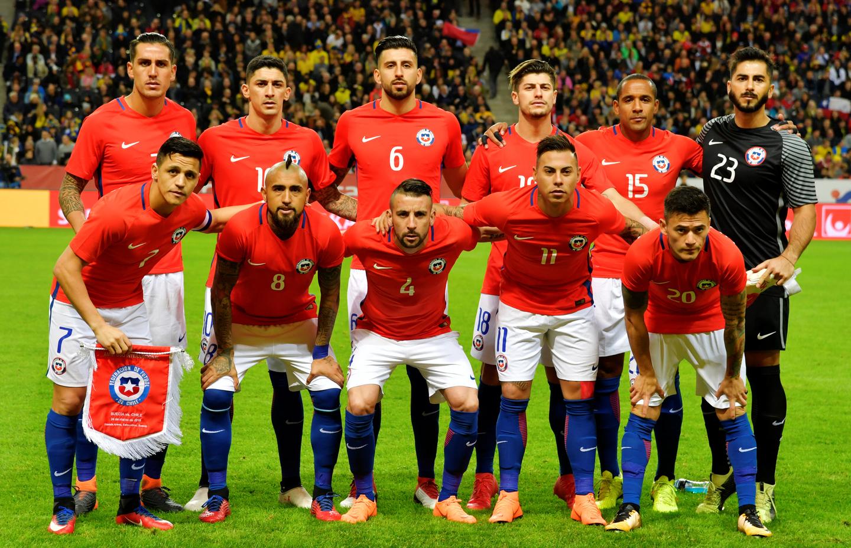 Formación de Chile ante Suecia, amistoso disputado el 24 de marzo de 2018