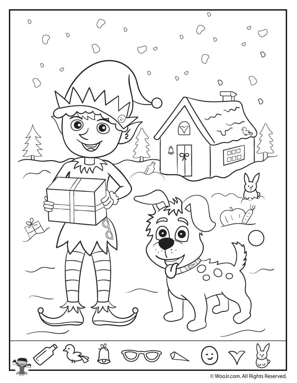 Christmas Hidden Pictures for kids 2019 - Tipss und Vorlagen