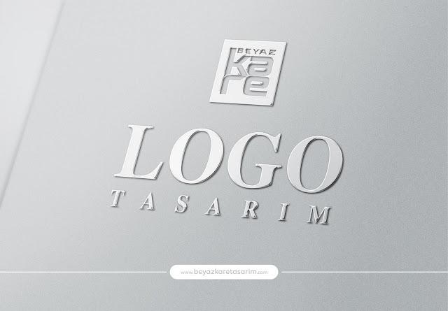 3D logo tasarımı gümüş metal