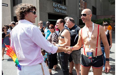 Justin Trudeau on gay parade
