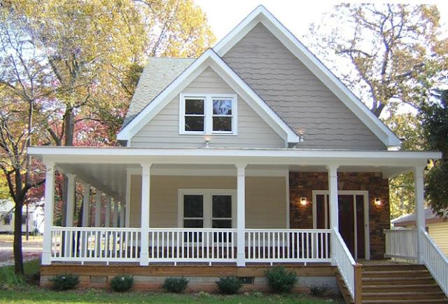 rumah kayu desain country