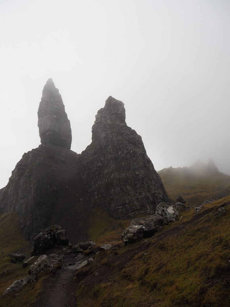 Misty view at the Old Man of Storr