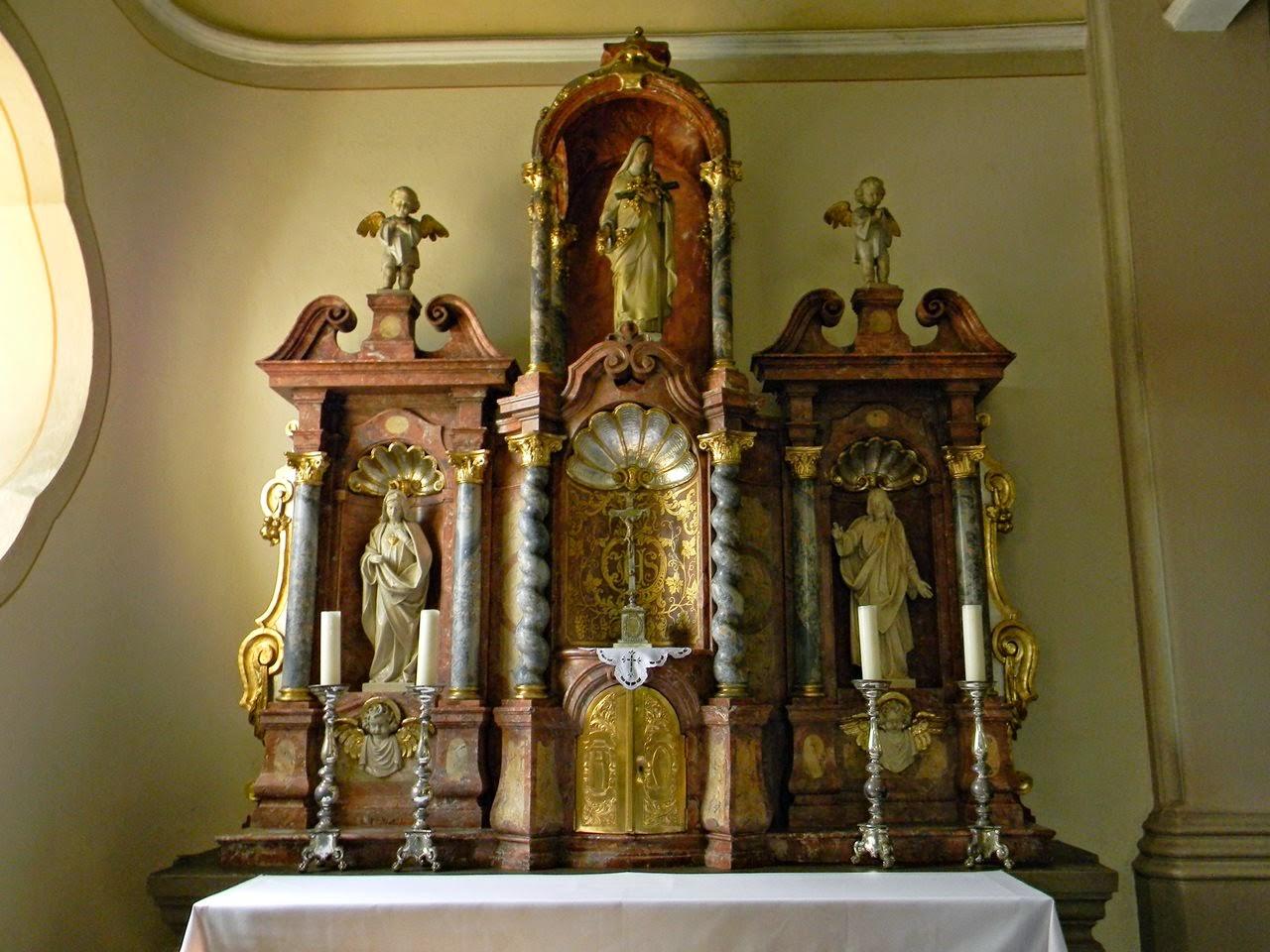 opolskie, Korfantów, kościół, nawa boczna