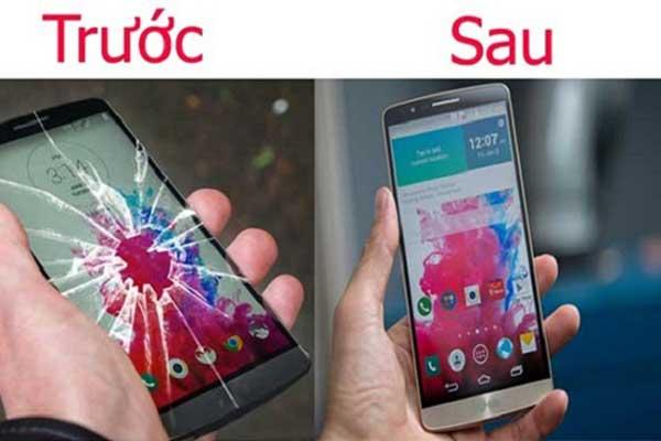 LG G5 sau khi được thay mặt kính