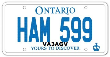 HAM Radio Personalized licence plates
