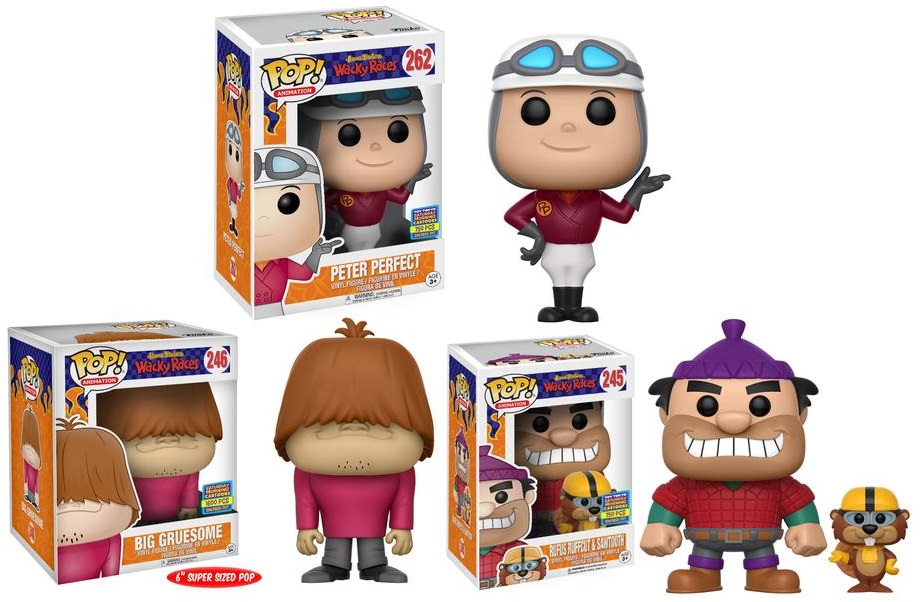 Animation Collectables Hanna-barbera Charitable New Dorbz Ridez Wacky Races Peter Perfect W/ Turbo Terrific Figure Official