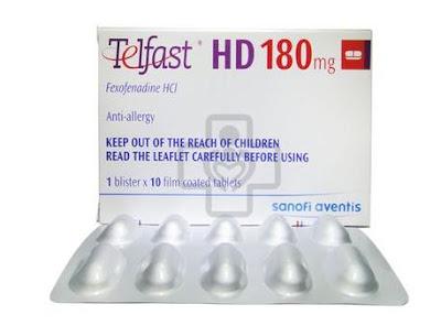 Thuốc chống dị ứng Telfast HD 180 mg