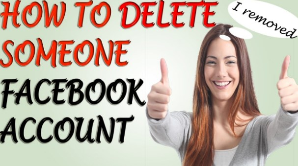 How to delete someone from facebook