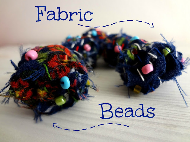 make your own fabric beads