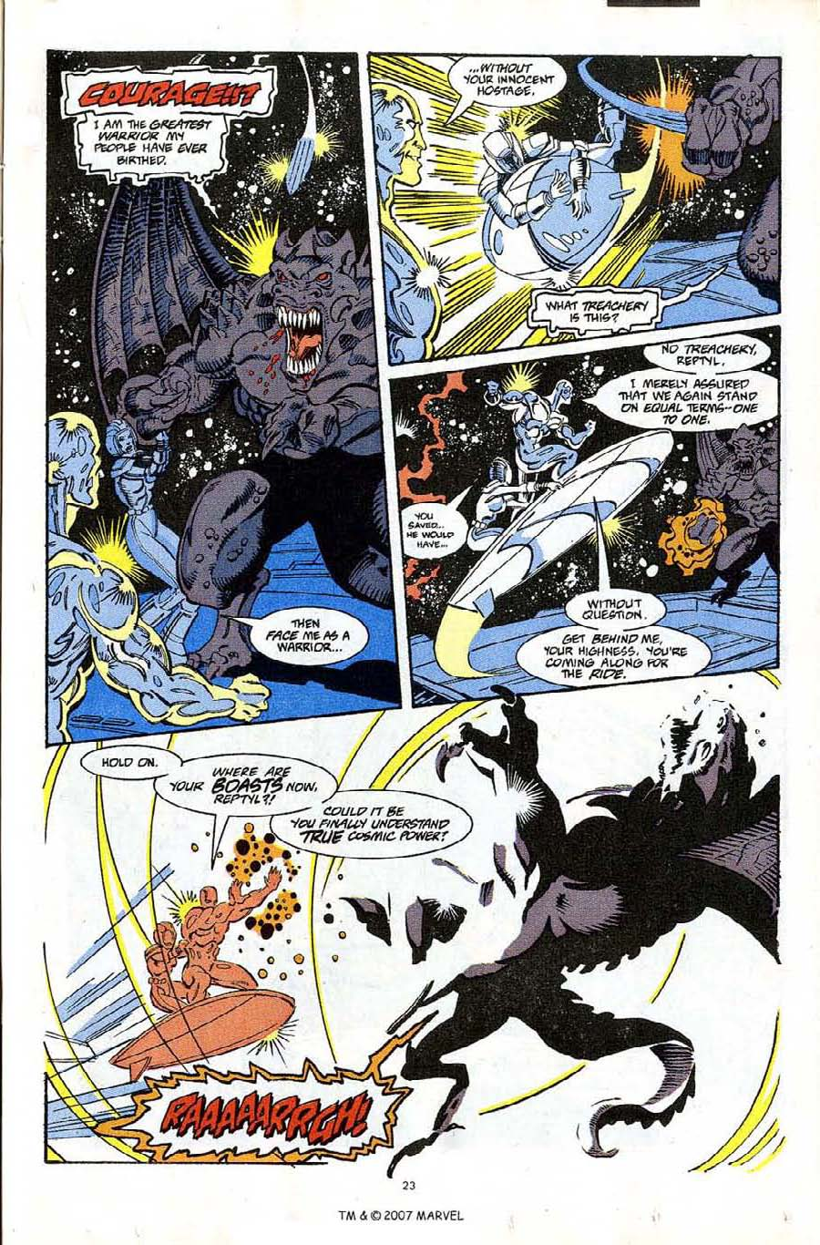 Read online Silver Surfer (1987) comic -  Issue #65 - 25