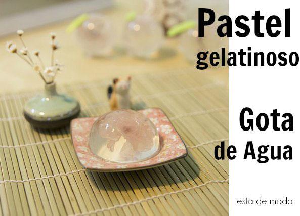 agar agar, pastel gelatinoso, pastel gota de agua