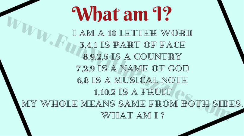 What am I English Word Riddles with Answers Fun With Puzzles