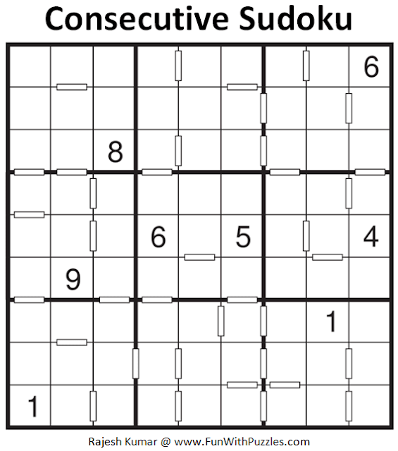 Consecutive Sudoku Puzzle (Fun With Sudoku #399)