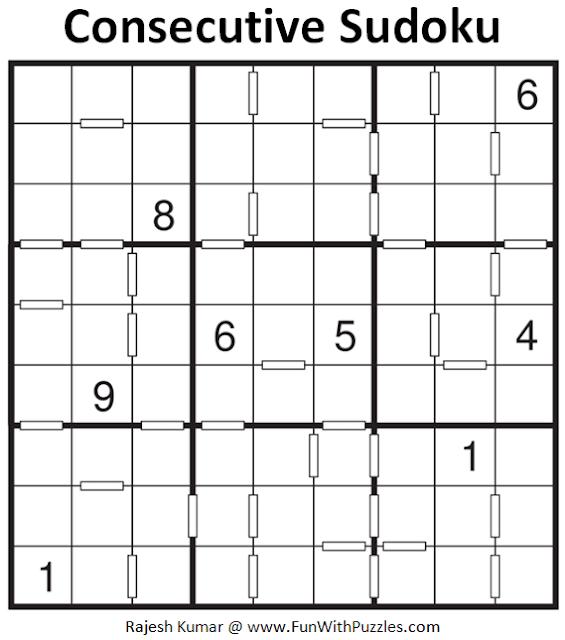 Consecutive Sudoku Puzzle (Fun With Sudoku #399)