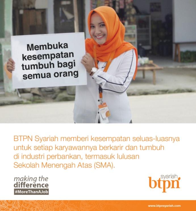 Peluang Karir Di Bank BTPN Syariah Untuk Wilayah Riau Dan Sekitarnya