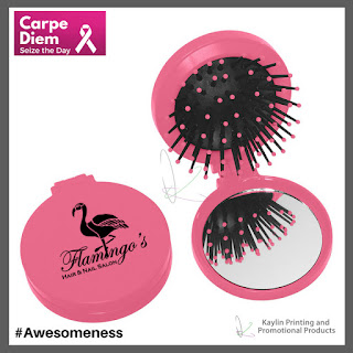 Promotional Pink Hairbrush and Mirror